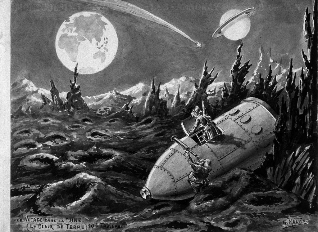 """Bocetos previos a """"Viaje a la Luna"""""""